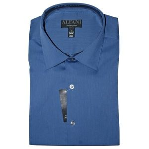 Alfani Athletic Fit Bedford Cord Dress Shirt Large
